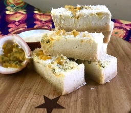Lime & Passionfruit Vegan Raw Slice