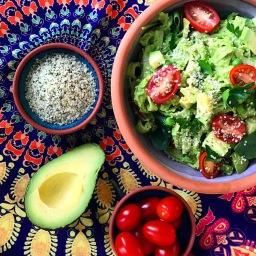 Avocado Hemp & Pea Pesto Pasta Salad